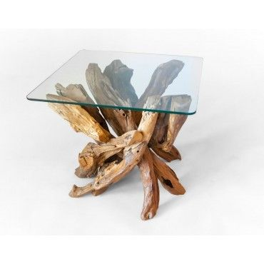 A coffee table teak root