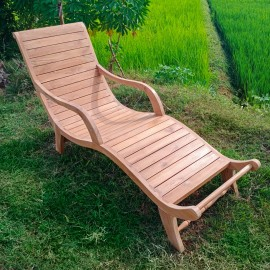 Plantation deck sun lounger, teakwood