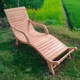 Sebani deck sun lounger, teakwood