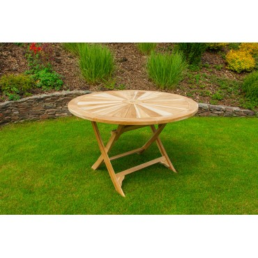 Large round garden table Matahari 150 cm, teak