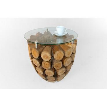 Stolik kawowy ze szklanym...