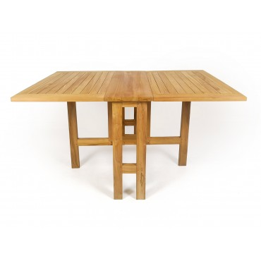 Teak extending balcony table