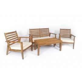 KUBU - a teak wood set of garden furniture
