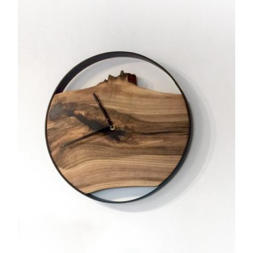 Medium Loft wall clock, Walnut