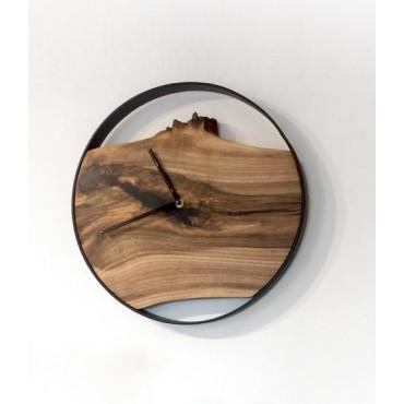 Medium Loft wall clock, Walnut
