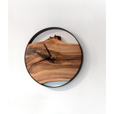 Small Loft wall clock, Walnut