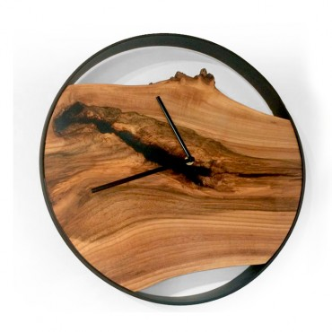 Large Loft wall clock, Walnut