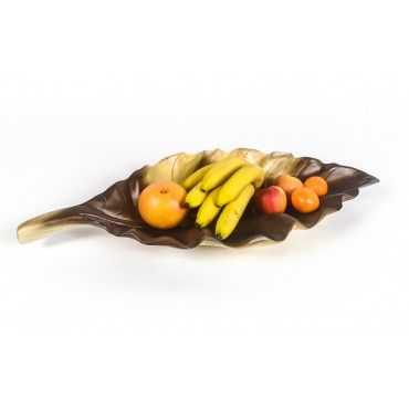 Large leaf bowl, Suar