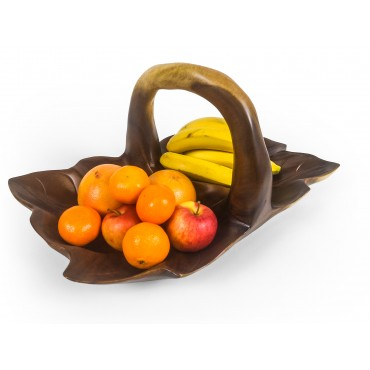 Leaf-shaped tray with...