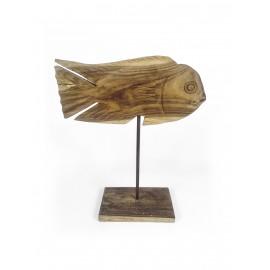 Sculpture fish sword, wood teak