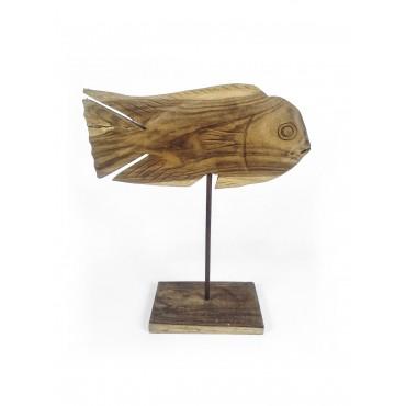 Rzeźba ryba , drewno teak