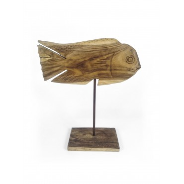 Sculpture fish sword, wood...