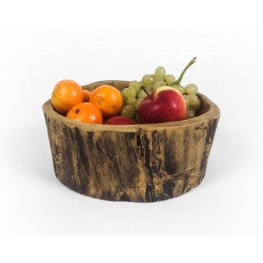 Teak wood bowl of irregular...