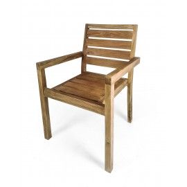Chair with armrests, Teak