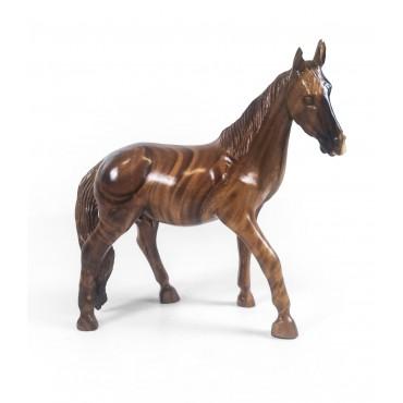 Sculpture horse, teak wood