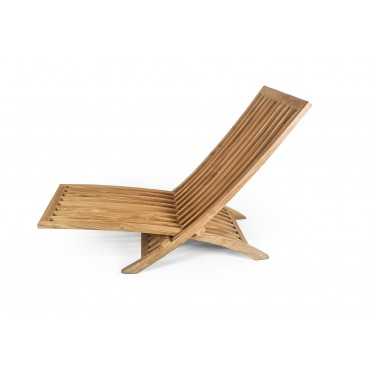 Folding deck sun lounger