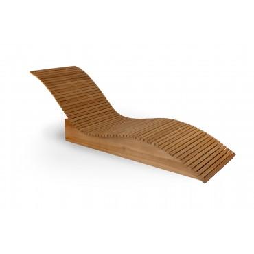Deck sun lounger - Wave