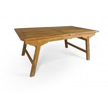 Folding teak garden table