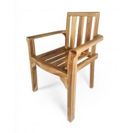 Krzesło z podłokietnikami, Teak