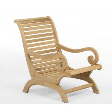 Plantation armchair, teakwood