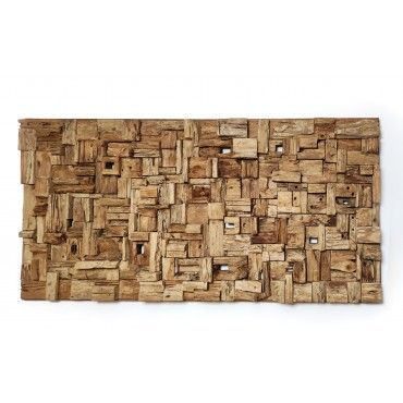 A HUGE teak mosaic