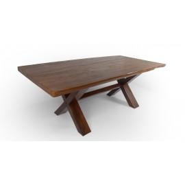 Massive table made of teak wood