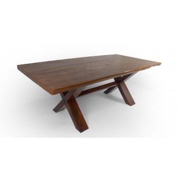 Masywny stół do jadalni, Teak