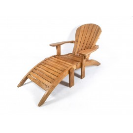 Garden armchair Adirondack with footstool, teakwood