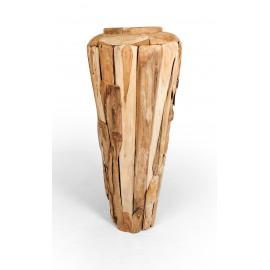 Amfora ogrodowa z drewna odzyskanego L, teak