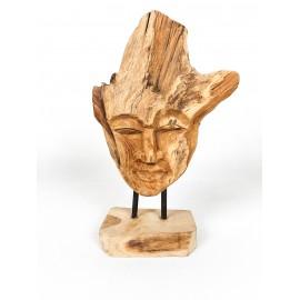 "Sculpture ""Face"", recovered wood teak"