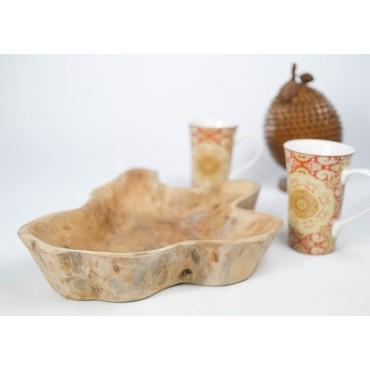 Hand carved teak wood bowl