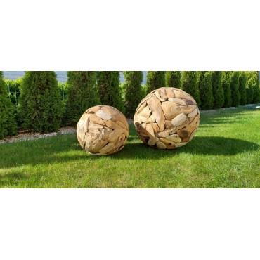 Teak 70 garden ball, teak