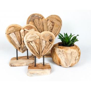 Rzeźba Serce S, drewno...
