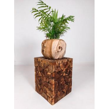 Stołek mozaika z drewna...