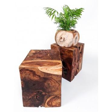 Stołek z drewna tekowego