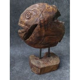 Balinese Fish Sculpture, teak wood,L