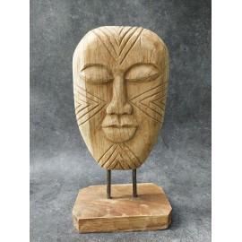 Ethnic mask,  Timor Island, Boho, teak
