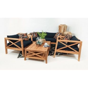 Mataram - a teak wood set...