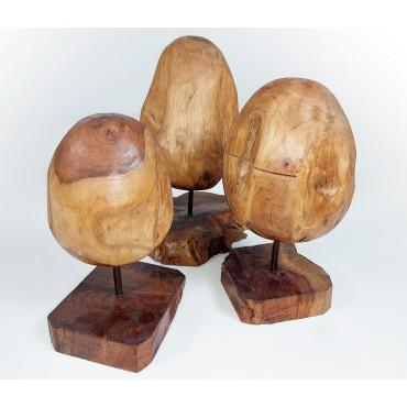 Komplet rzeźb o kształcie jaja