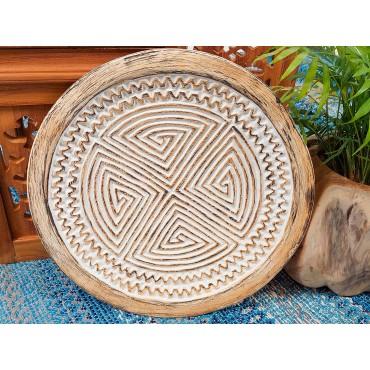 Tribal, carved decorative...