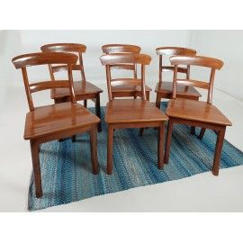 OUTLET Set of 6 Chair lacquered - exotic Teak wood
