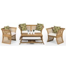 AUSTER - a teak wood set of garden furniture