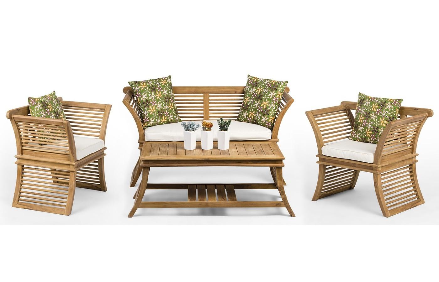 Auster A Teak Wood Set Of Garden Furniture