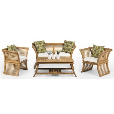 AUSTER - a teak wood set of garden furniture