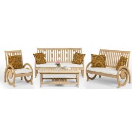 Dedun - a teak wood set of garden furniture