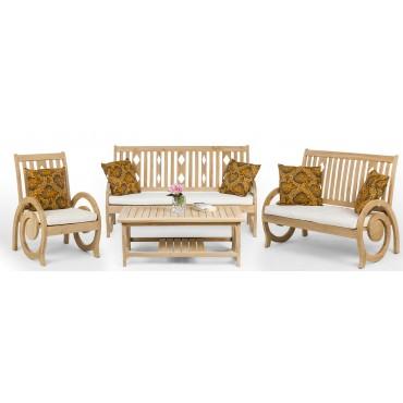 Dedun - a teak wood set of...