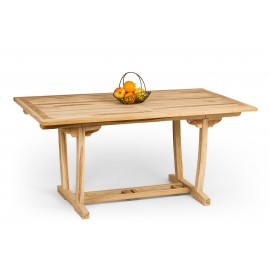 Stół ogrodowy prostokątny drewno Teak