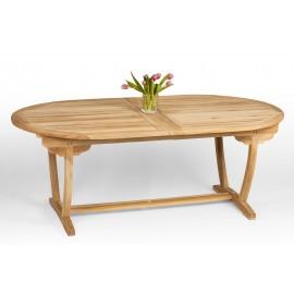 Stół ogrodowy - duży, rozkładany - drewno teak