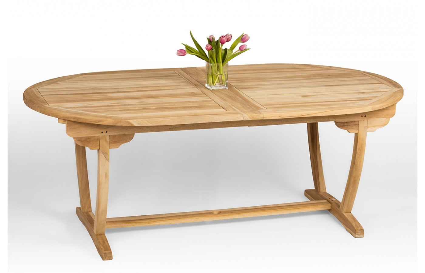 - A Large Teak Wood Garden Table With Folding