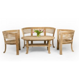 Set of garden furniture 4-piece, wood Teak